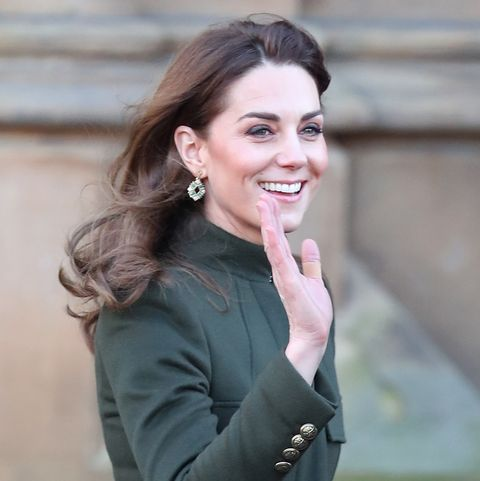 Kate Middleton steps out in stunning green trench coat