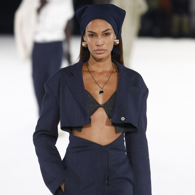 paris, france   january 18 joan smalls walks the runway during the jacquemus menswear fallwinter 2020 2021 show as part of paris fashion week on january 18, 2020 in paris, france photo by julien m hekimiangetty images