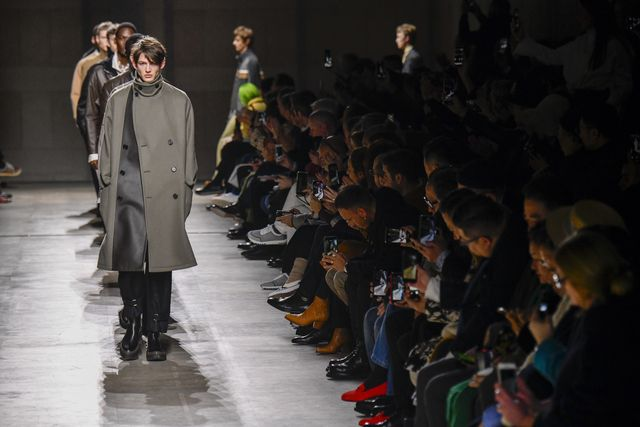 paris, france   january 18 a model walks the runway during the hermes menswear fallwinter 2020 2021 fashion show as part of paris fashion week on january 18, 2020 in paris, france photo by victor virgilegamma rapho via getty images
