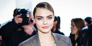 Cara Delevinge Feather Ponytail Hair
