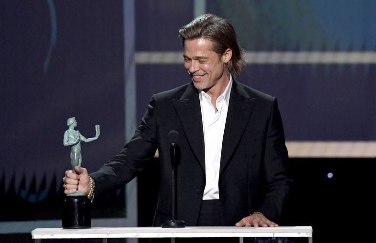 Brad Pitt Joked About Jolie, Aniston And Tarantino's Foot Fetish In His Hilarious SAG Awards Speech