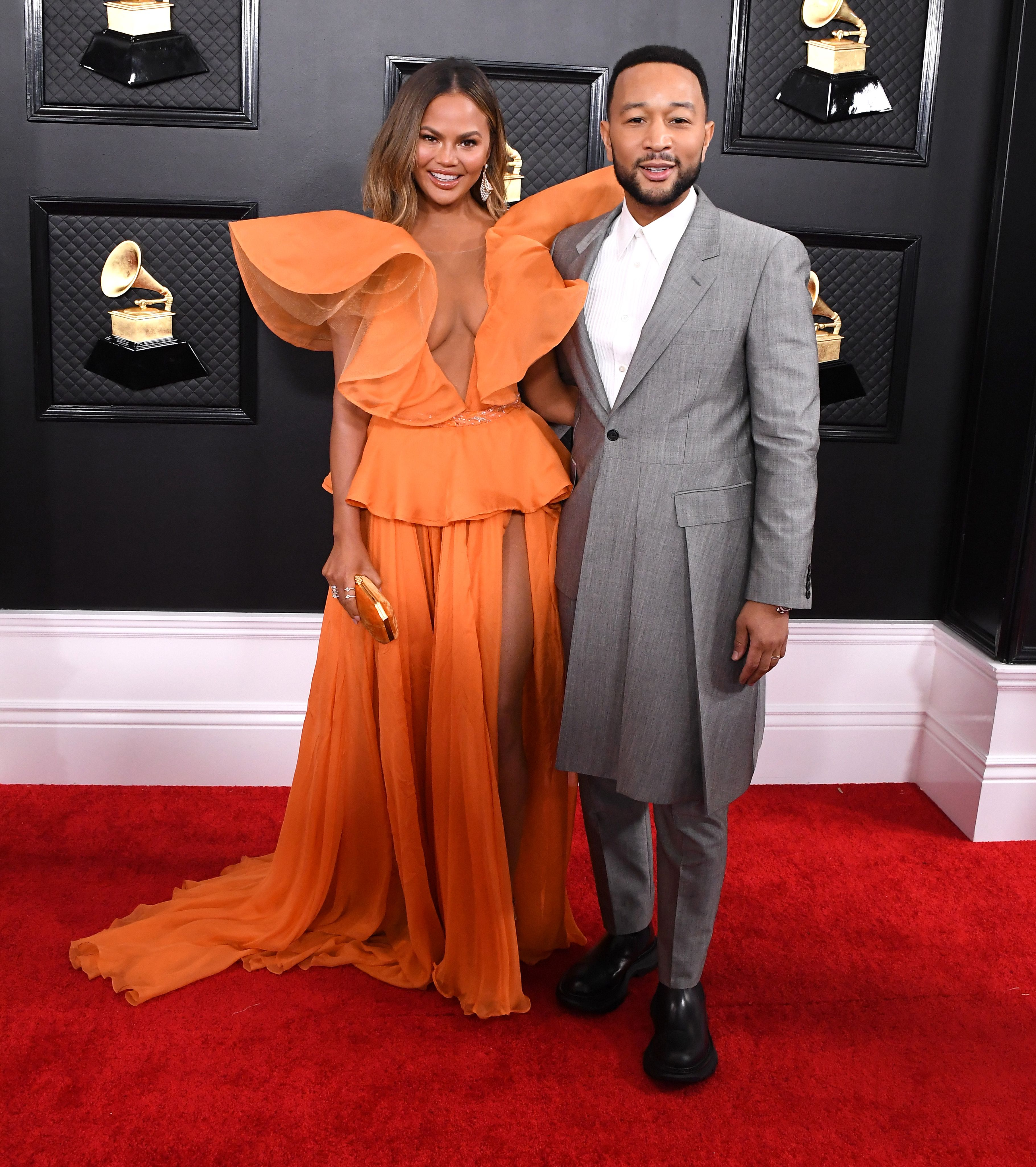 Chrissy Teigen and John Legend Celebrated His Grammy Win With an Ariana Grande Dance Party