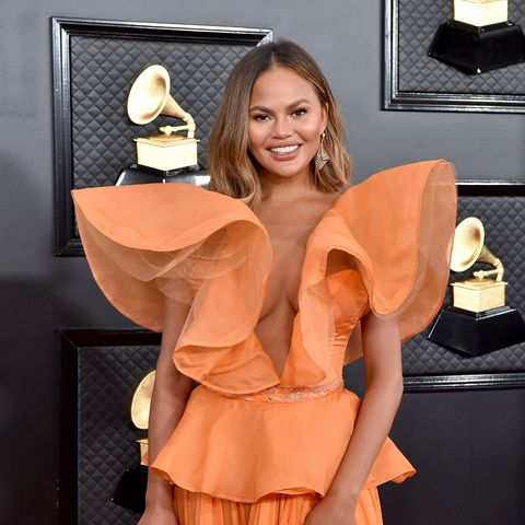 los angeles, california   january 26 chrissy teigen attends the 62nd annual grammy awards at staples center on january 26, 2020 in los angeles, california photo by axellebauer griffinfilmmagic