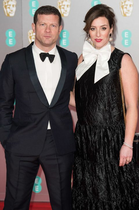 london, england   february 02 l r dermot oleary and dee koppang attend  the ee british academy film awards 2020 at royal albert hall on february 02, 2020 in london, england photo by jeff spicergetty images