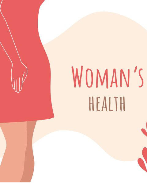 beautiful female body and womens hygiene and health concept menopause, urinary incontinence, gynecology and care for womens sexual health maternity and pregnancy sign vector illustration