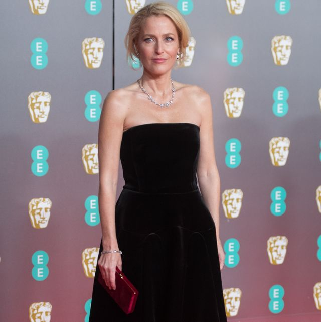 london, england   february 02 gillian anderson attends the ee british academy film awards 2020 at royal albert hall on february 02, 2020 in london, england photo by samir husseinwireimage