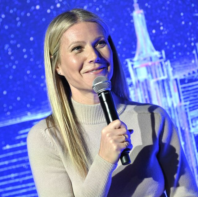 new york, new york   february 03 gwyneth paltrow hosts a panel discussion at the jvp international cyber center grand opening on february 03, 2020 in new york city photo by gary gershoffgetty images