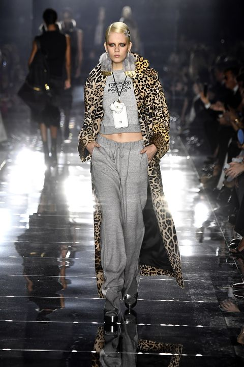 hollywood, california   february 07 a model walks the runway at the tom ford aw20 show at milk studios on february 07, 2020 in hollywood, california photo by frazer harrisongetty images