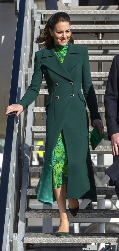 dublin, ireland   march 03 princess catherine, duchess of cambridge arrives at dublin airport on march 3, 2020 in dublin, ireland photo by ian vogler poolgetty images