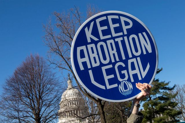 united states   march 4 pro choice abortion activists protest during a demonstration outside the supreme court in washington on march 4, 2020, as the court hears oral arguments regarding a louisiana law about abortion access on wednesday, march 4, 2020 photo by caroline brehmancq roll call, inc via getty images