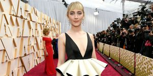 Saoirse Ronan sustainable gucci dress oscars