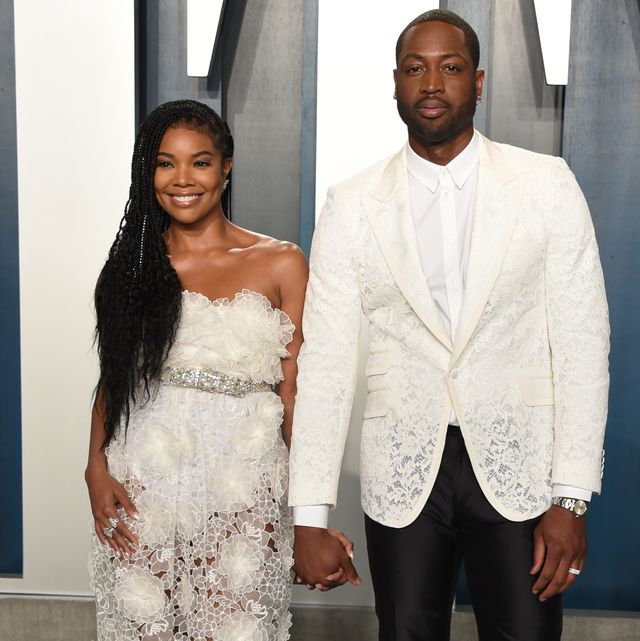 beverly hills, california   february 09 gabrielle union l and dwyane wade attend the 2020 vanity fair oscar party hosted by radhika jones at wallis annenberg center for the performing arts on february 09, 2020 in beverly hills, california photo by john shearergetty images