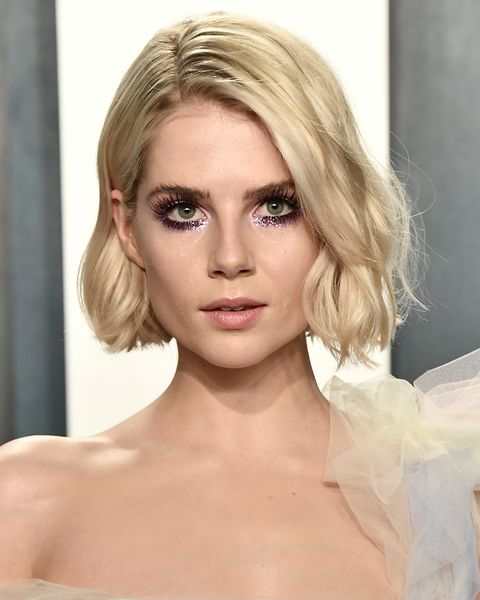 Lucy Boynton Makeup 2020 Vanity Fair Oscar Party