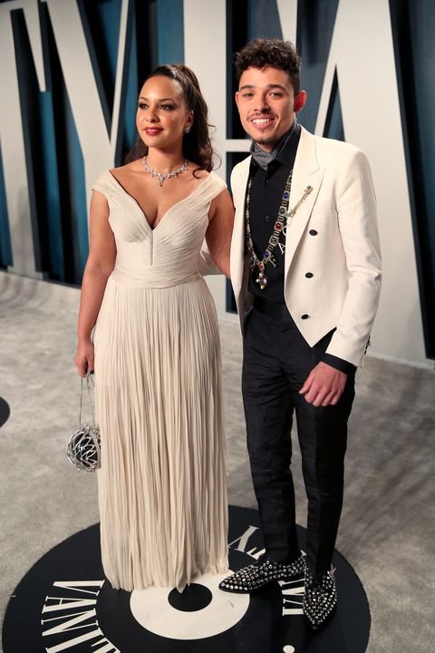 beverly hills, california february 09 lr jasmine cephas jones and anthony ramos attends the 2020 vanity fair oscar party hosted by radhika jones at wallis annenberg center for the performing arts on february 09, 2020 in beverly hills, california photo by rich furyvf20getty images for vanity fair