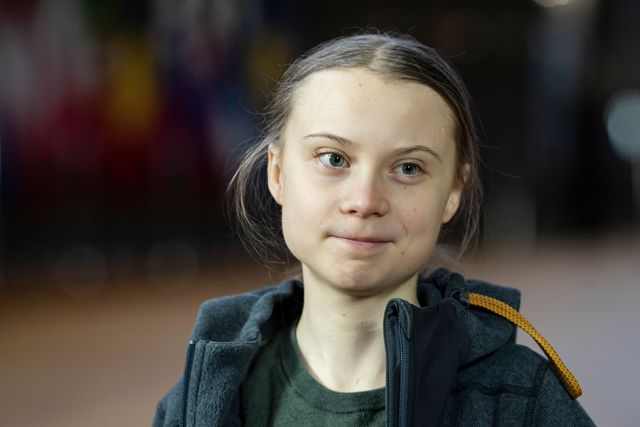 swedish environmentalist greta thunberg arrives for a meeting at the europa building in brussels on march 5, 2020 photo by kenzo tribouillard  afp photo by kenzo tribouillardafp via getty images