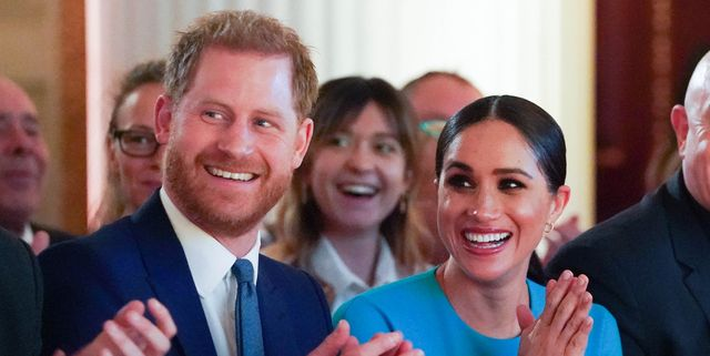 london, england   march 05 prince harry, duke of sussex and meghan, duchess of sussex cheer attend the annual endeavour fund awards at mansion house on march 5, 2020 in london, england their royal highnesses will celebrate the achievements of wounded, injured and sick servicemen and women who have taken part in remarkable sporting and adventure challenges over the last year photo by paul edwards   wpa poolgetty images