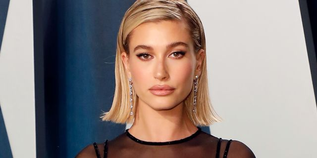 beverly hills, california   february 09 hailey bieber attends the vanity fair oscar party at wallis annenberg center for the performing arts on february 09, 2020 in beverly hills, california photo by taylor hillfilmmagic,