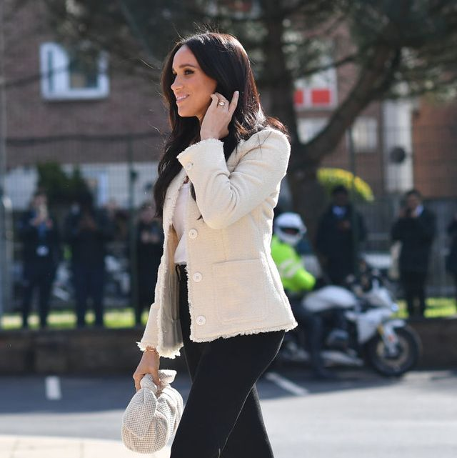 london, england   march 06 meghan, duchess of sussex visits the the robert clack upper school in dagenham to attend a special assembly ahead of international women's day iwd held on sunday 8th march, on march 6, 2020 in london, england   photo by ben stansall wpa poolgetty images