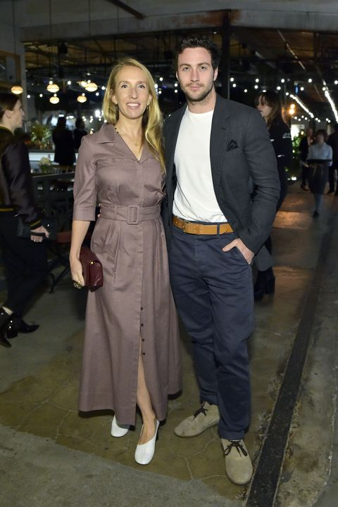los angeles, california   february 12  sam taylor johnson and aaron taylor johnson attends hauser  wirth x matchesfashion at hauser  wirth on february 12, 2020 in los angeles, california photo by stefanie keenangetty images for hauser  wirth x matchesfashion