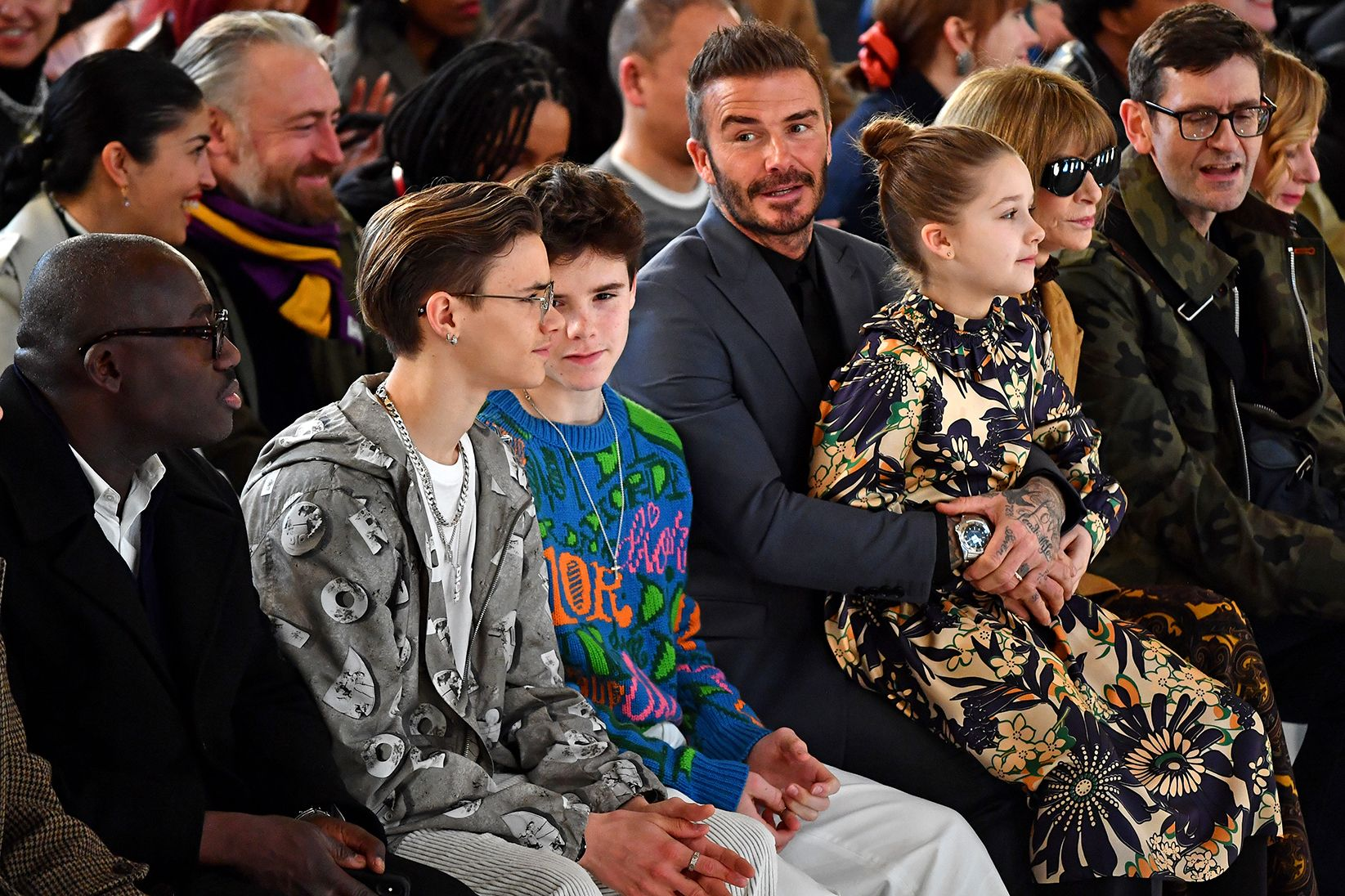 The Beckhams Managed To Hit Almost Every Shade Of Menswear At London Fashion Week