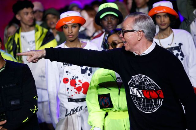london, england – february 16 fashion designer tommy hilfiger at the tommynow  show during london fashion week february 2020 at the tate modern on february 16, 2020 in london, englandphoto by estropgetty images
