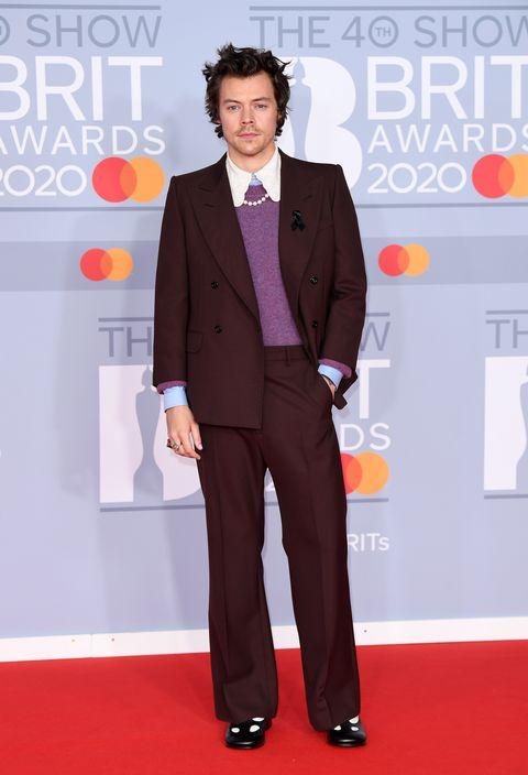 harry styles tijdens de brit awards in 2020