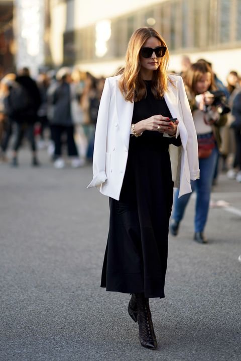 Clothing, White, Street fashion, Fashion, Coat, Outerwear, Snapshot, Footwear, Shoulder, Black-and-white,