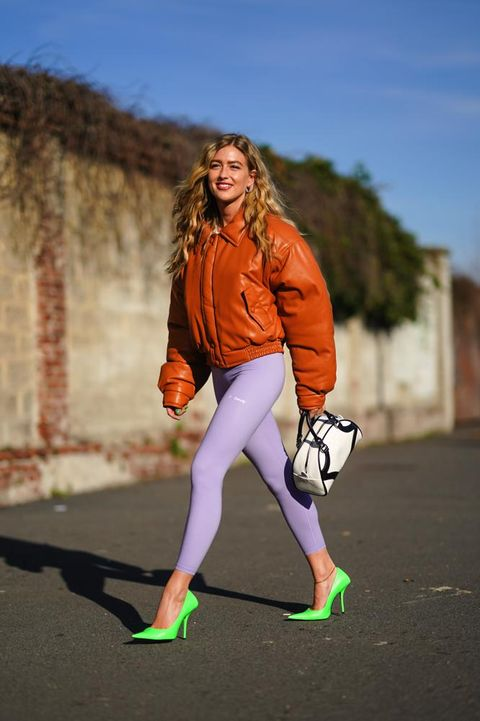 Orange, Fashion, Tights, Street fashion, Sportswear, Footwear, Leggings, Photography, Trousers, Shoe,