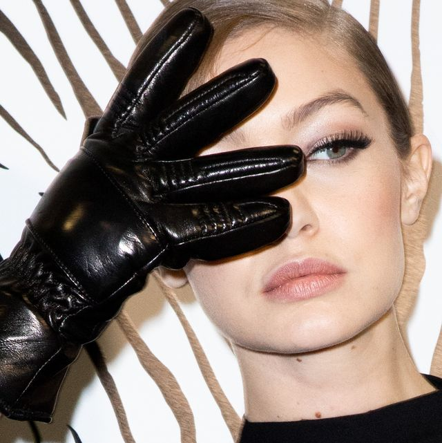 milan, italy   february 21 top model gigi hadid is seen backstage at the versace fashion show on february 21, 2020 in milan, italy photo by rosdiana ciaravologetty images