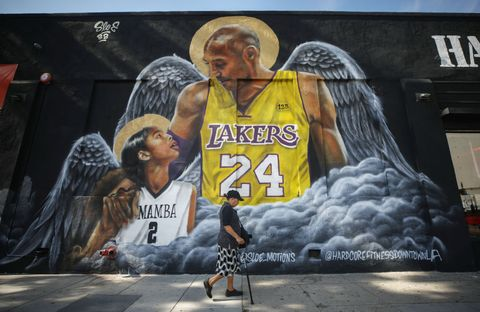 los angeles, california   february 13 a mural depicting deceased nba star kobe bryant and his daughter gianna, painted by sloemotions, is displayed on a building on february 13, 2020 in los angeles, california numerous murals depicting bryant and gianna have been created around greater los angeles following their tragic deaths in a helicopter crash which left a total of nine dead a public memorial service honoring bryant will be held february 24 at the staples center in los angeles, where bryant played most of his career with the los angeles lakers  photo by mario tamagetty images
