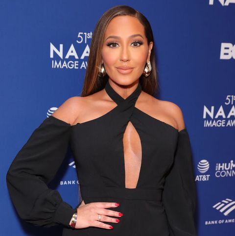 hollywood, california   february 21 adrienne houghton attends 51st naacp image awards   non televised awards dinner   arrivals on february 21, 2020 in hollywood, california photo by leon bennettwireimage