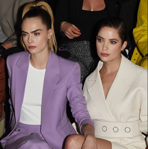 milan, italy   february 23  cara delevingne and ashley benson attend the boss fashion show on february 23, 2020 in milan, italy photo by stefania dalessandrogetty images