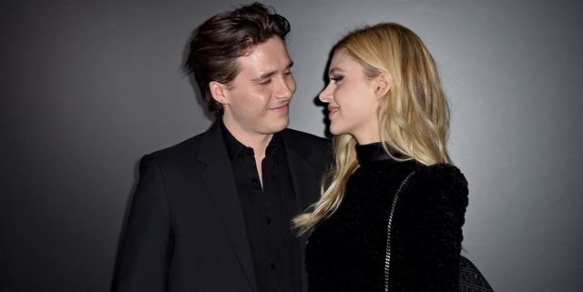 paris, france   february 25 editorial use only brooklyn beckham and nicola peltz attend the saint laurent show as part of the paris fashion week womenswear fallwinter 20202021 on february 25, 2020 in paris, france photo by dominique charriauwireimage