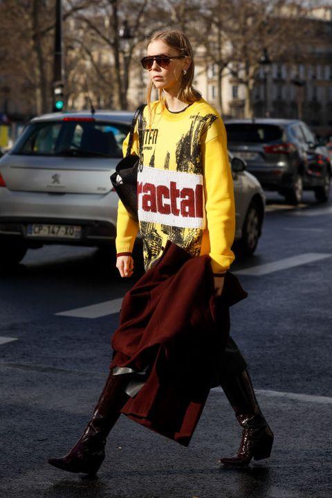 stivali moda primavera 2020 street style parigi