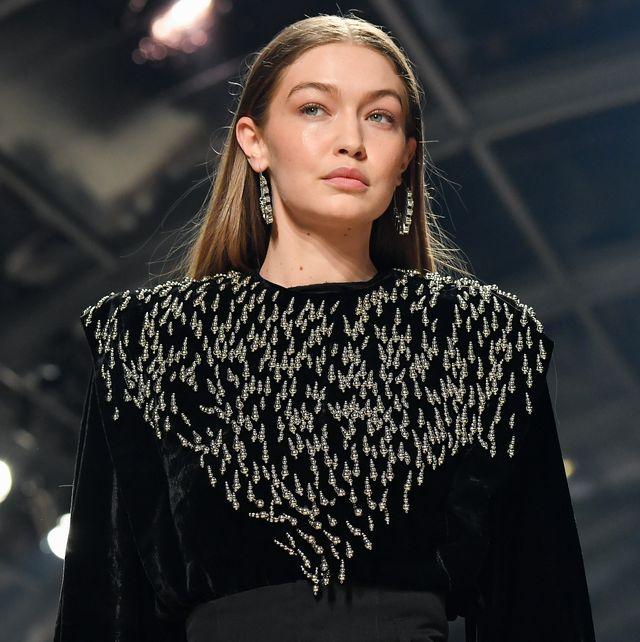 paris, france   february 27 editorial use only gigi hadid walks the runway during the isabel marant show as part of the paris fashion week womenswear fallwinter 20202021 on february 27, 2020 in paris, france photo by stephane cardinale   corbiscorbis via getty images