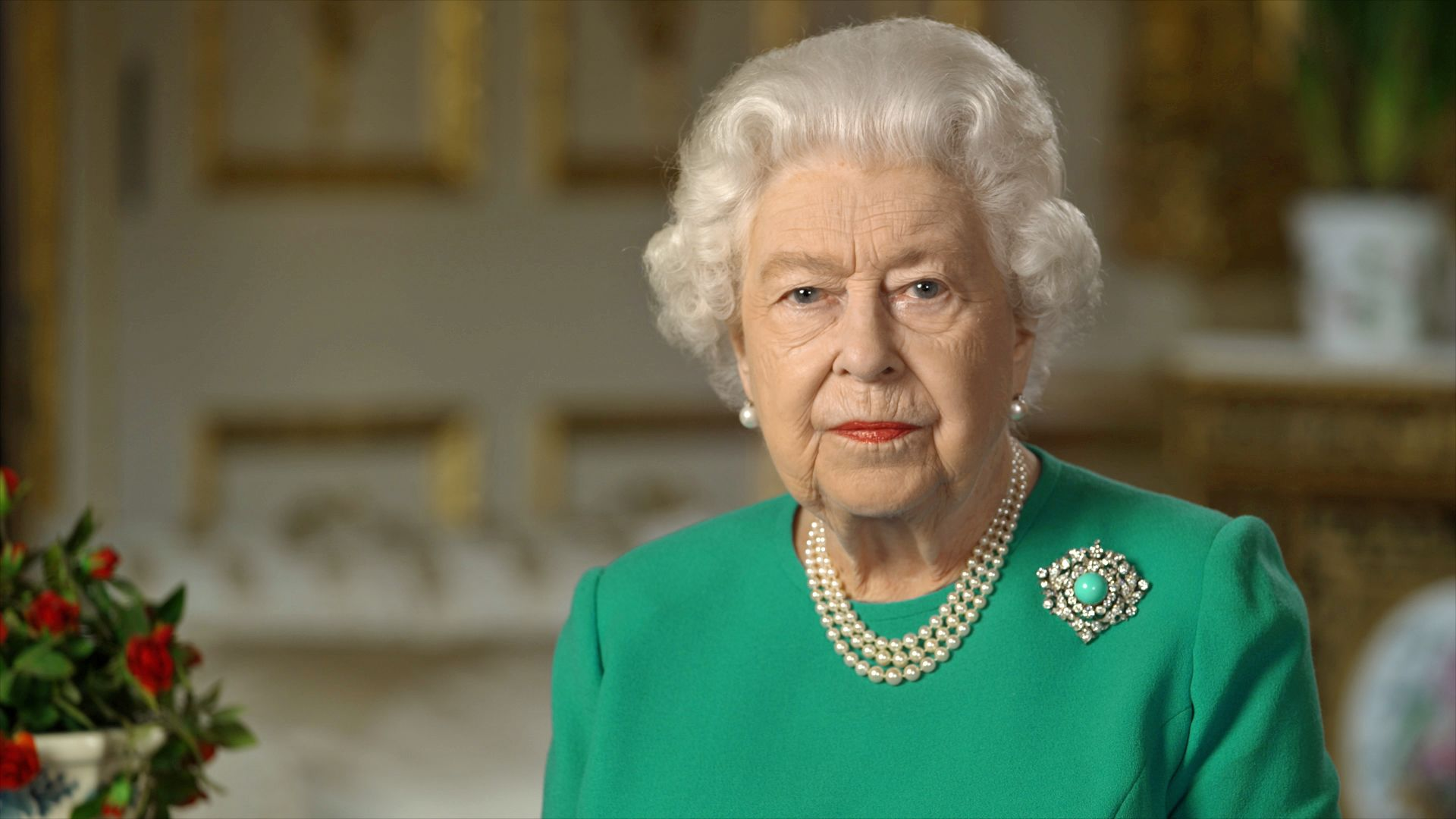 The Subtle Message Queen Elizabeth Sent By Wearing an Unusual Brooch During Her Televised Address