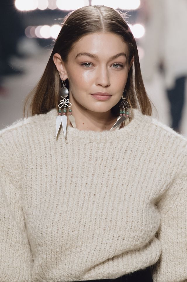 paris, france   february 27 editorial use only gigi hadid walks the runway during the isabel marant show as part of paris fashion week womenswear fallwinter 20202021 on february 27, 2020 in paris, france photo by kristy sparowgetty images