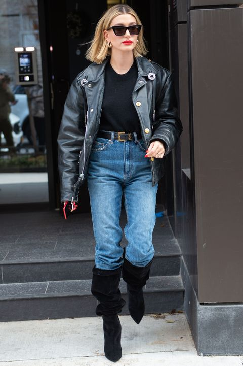 new york, ny   february 28 hailey baldwin is seen on february 28, 2020 in new york city photo by adrian edwardsgc images