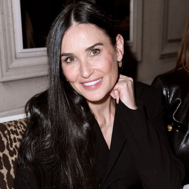 paris, france   february 29 demi moore attends the monot show as part of the paris fashion week womenswear fallwinter 20202021 on february 29, 2020 in paris, france photo by jacopo raulegetty images