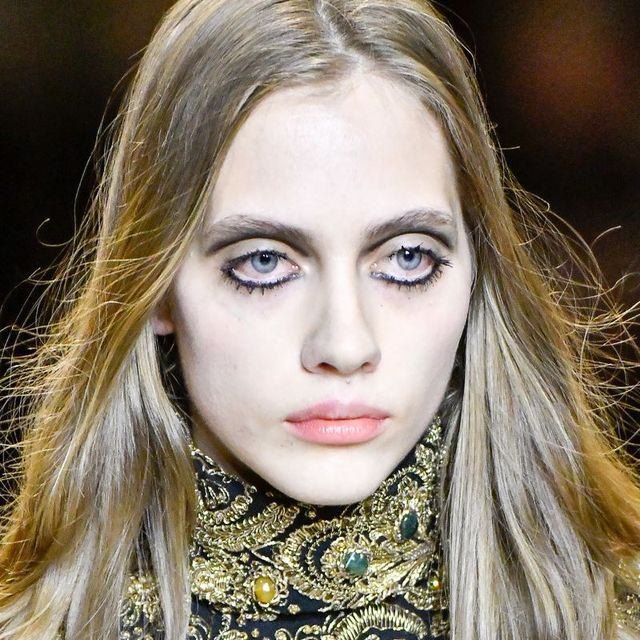 Hair, Face, Lip, Eyebrow, Blond, Fashion, Beauty, Hairstyle, Fashion model, Skin,
