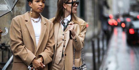 Clothing, Street fashion, Fashion, Outerwear, Coat, Snapshot, Eyewear, Suit, Blazer, Fashion model,