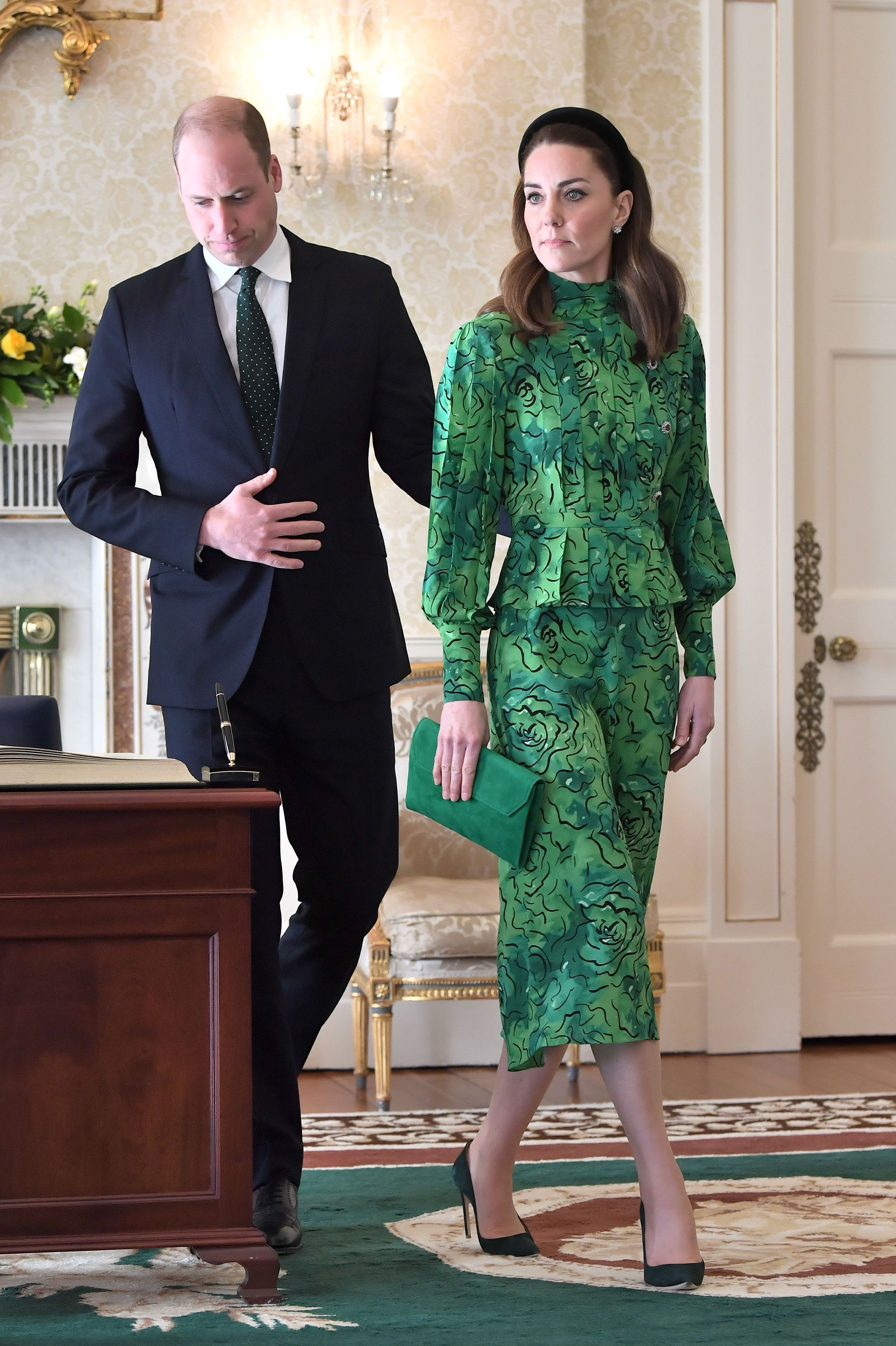 Kate Middleton Wore Two Bold Green Looks for Her First Day In Ireland