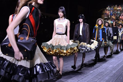 paris, france   march 03 editorial use only models walk the runway during the louis vuitton as part of the paris fashion week womenswear fallwinter 20202021 on march 03, 2020 in paris, france photo by stephane cardinale   corbiscorbis via getty images