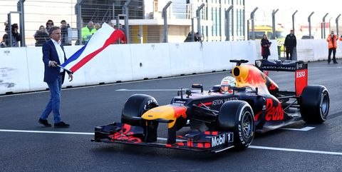 Max Verstappen of Red Bull Racing Drives First Laps at Circuit Zandvoort