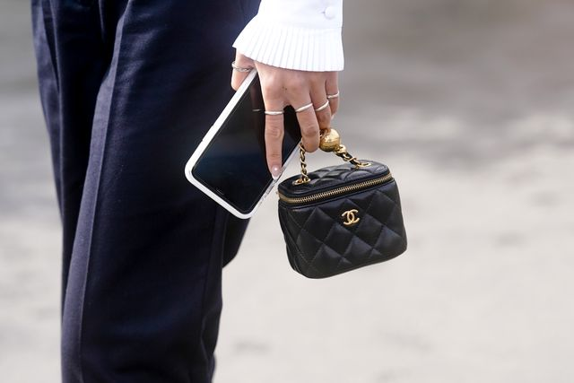 paris, france   march 03 a chanel bag is seen, outside chanel, during paris fashion week   womenswear fallwinter 20202021 on march 03, 2020 in paris, france photo by edward berthelotgetty images