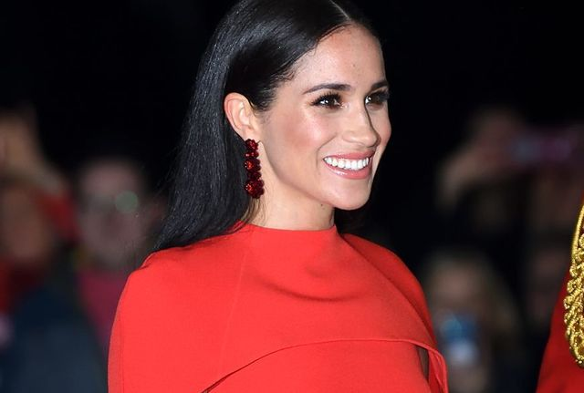 london, england   march 07  meghan, duchess of sussex accompanied by prince harry, duke of sussex attends the mountbatten festival of music at royal albert hall on march 07, 2020 in london, england photo by karwai tangwireimage