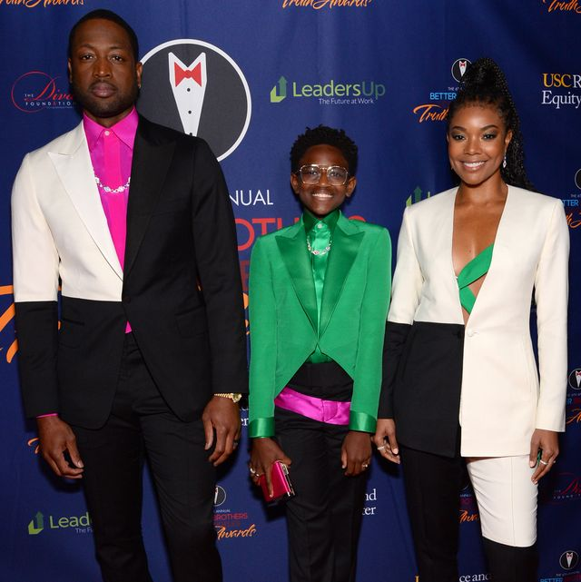 los angeles, california   march 07 l r dwyane wade, zaya wade and gabrielle union attend the better brothers los angeles 6th annual truth awards at taglyan complex on march 07, 2020 in los angeles, california photo by andrew tothgetty images