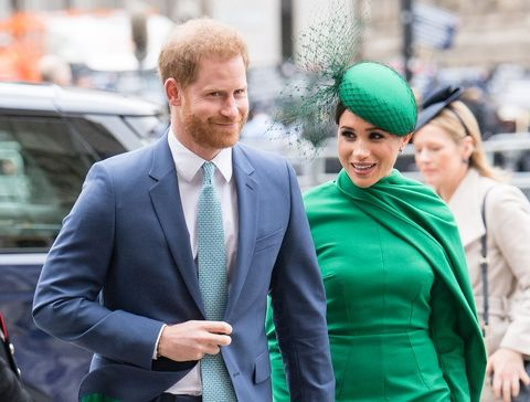 london, england   march 09  prince harry, duhcess of sussex and meghan, duchess of sussex attends the commonwealth day service 2020 on march 09, 2020 in london, england photo by samir husseinwireimage