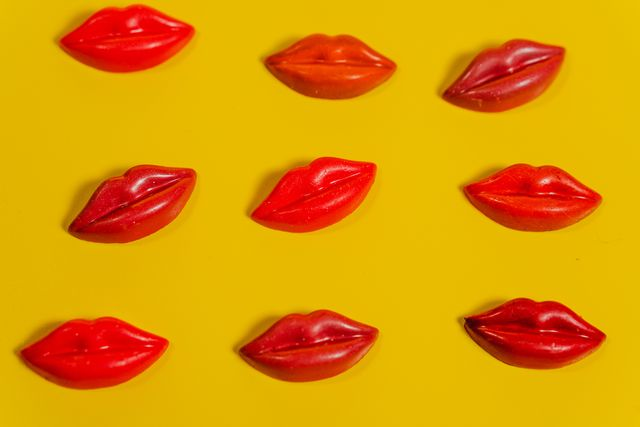 lips female lips in the form of sweets