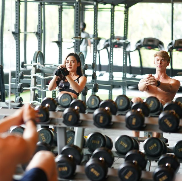 young adult working out to strengthening the core abdominal muscles and relaxing stress healthy lifestyle